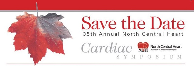 35th Annual North Central Heart Cardiac Symposium Banner